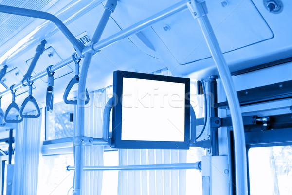 Autobus wnętrza telewizji projektu technologii ramki Zdjęcia stock © myfh88