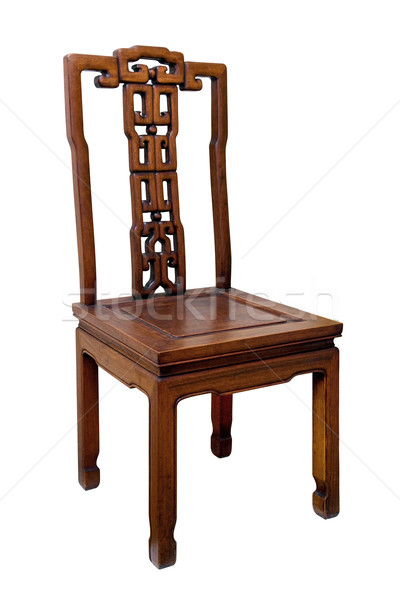 Chinese antique chair Stock photo © myfh88