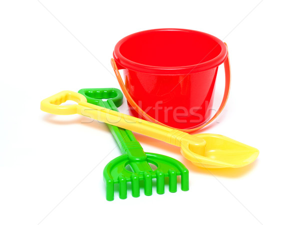 Sandpit toys isolated Stock photo © myfh88