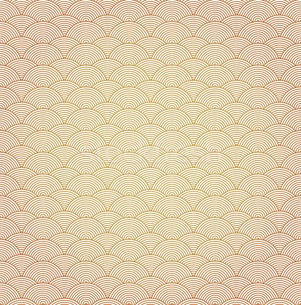 Orientalny krzywa wzór fali wody projektu tle Zdjęcia stock © myfh88