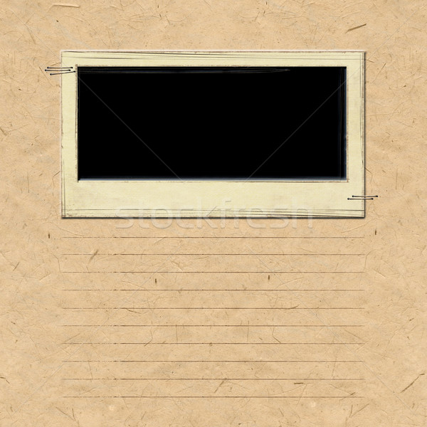 Nostalgia scrapbook frame sfondo retro carta Foto d'archivio © myfh88