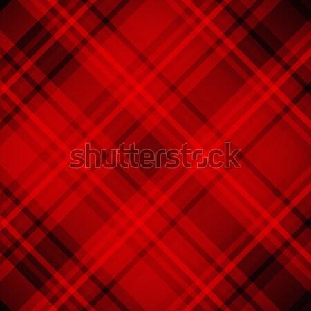 Red tartan plaid fabric pattern background Stock photo © myfh88