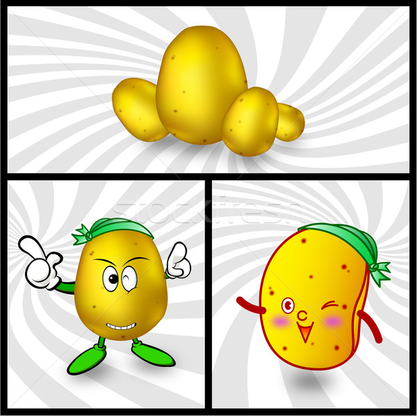 Stock photo: Vector potato cartoon