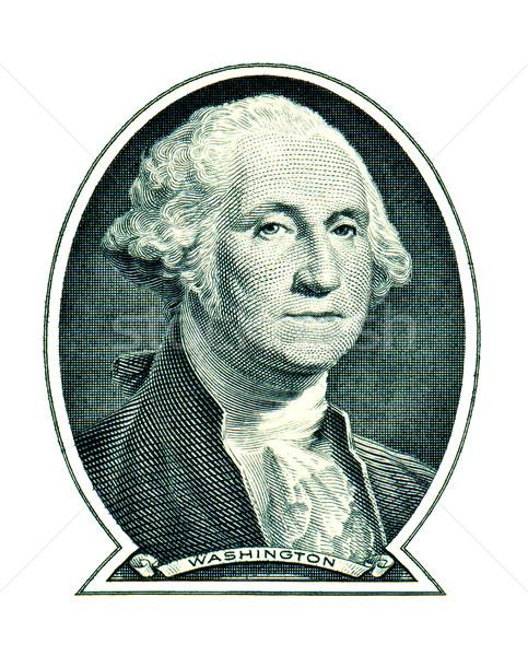 George Washington on one dollar isolated on white background Stock photo © myfh88