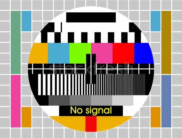 Vector Test tv screen background Stock photo © myfh88