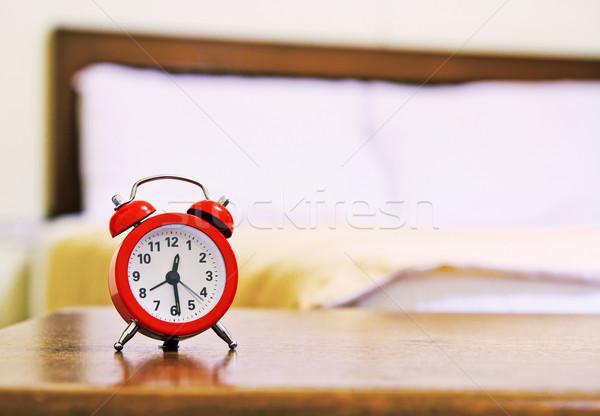 çalar saat arka plan zaman yatak kadın yatak odası Stok fotoğraf © myimagine
