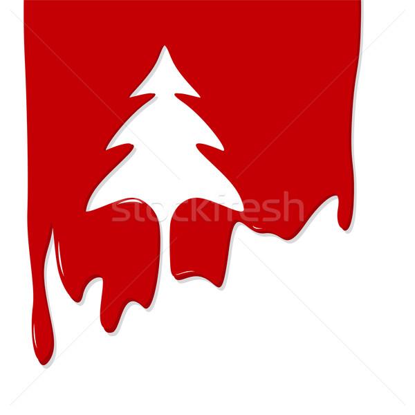 Noel ağacı dizayn arka plan kırmızı beyaz Noel Stok fotoğraf © myimagine