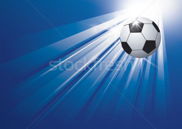 Futbol dizayn futbol ışık arka plan top Stok fotoğraf © myimagine
