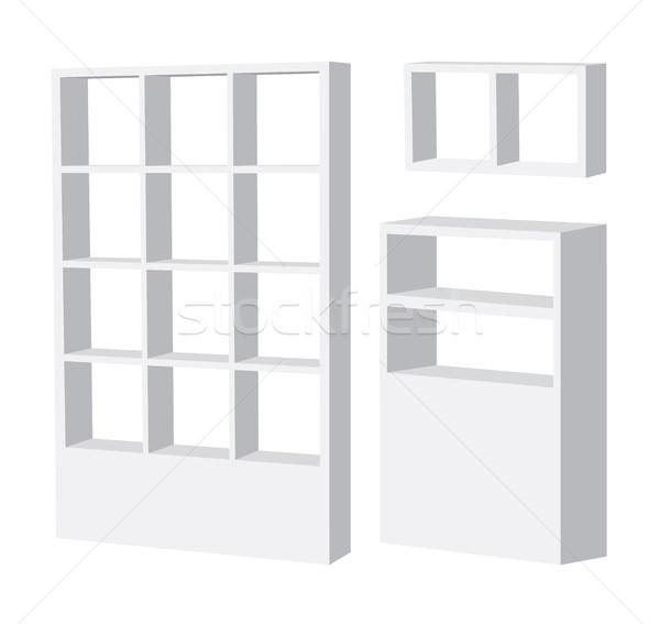 Prateleira de livros projeto mobiliário objeto closet 3D Foto stock © myimagine