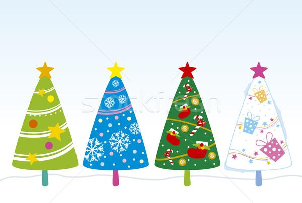 Noel ağacı dizayn ağaç arka plan Noel dekorasyon Stok fotoğraf © myimagine