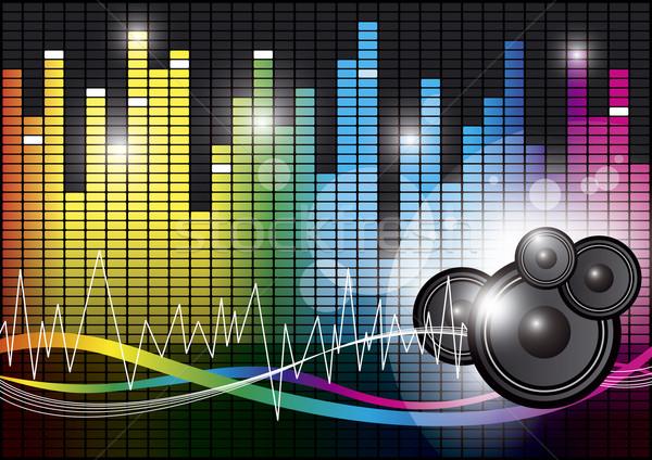 Müzik dizayn ışık teknoloji konuşmacı renk Stok fotoğraf © myimagine