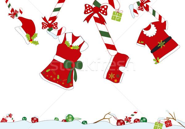 Noel dekorasyon bebek moda çocuk kutu Stok fotoğraf © myimagine