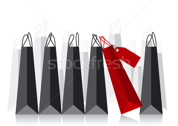 Alışveriş çantası iş arka plan imzalamak siyah pazarlama Stok fotoğraf © myimagine