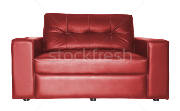 Kırmızı kanepe yalıtılmış kumaş siyah Stok fotoğraf © myimagine