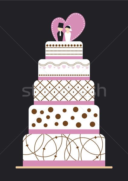 Esküvői torta esküvő férfi torta desszert kreatív Stock fotó © myimagine