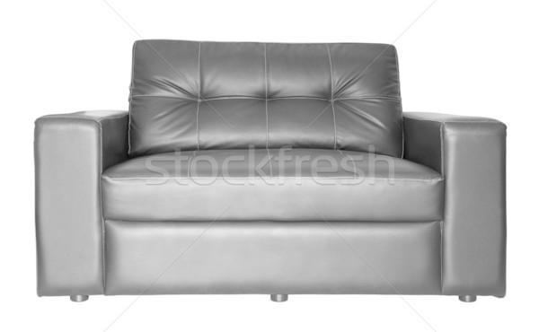 Siyah kanepe yalıtılmış kumaş Stok fotoğraf © myimagine
