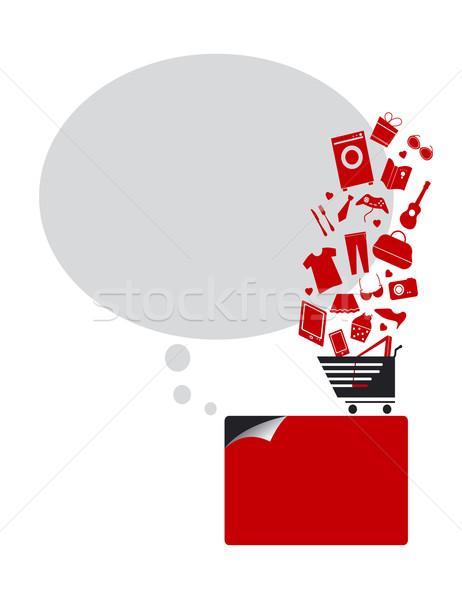 Kredi kartı kavramlar moda alışveriş finanse alışveriş sepeti Stok fotoğraf © myimagine