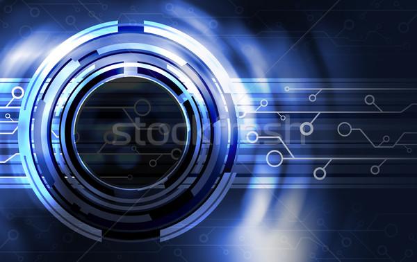 Teknoloji dizayn bilgisayar arka plan Metal mavi Stok fotoğraf © myimagine