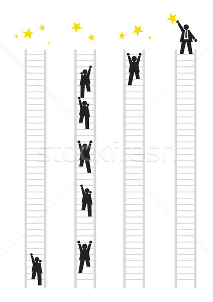 Iş kavramlar imzalamak iş adamları siyah başarı Stok fotoğraf © myimagine