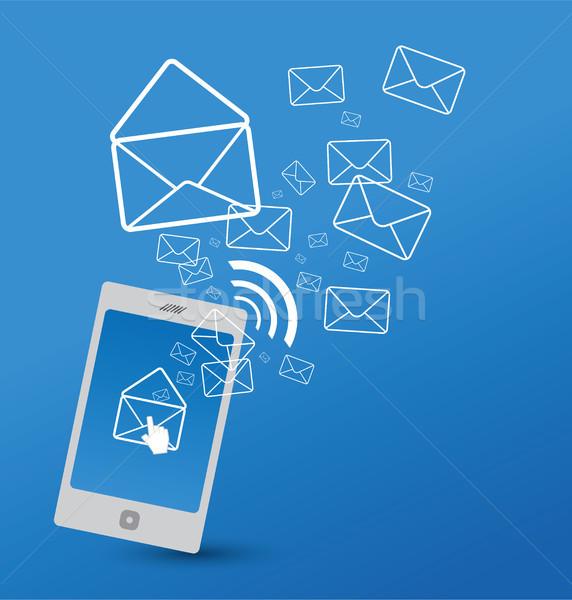 Sending SMS Stock photo © myimagine