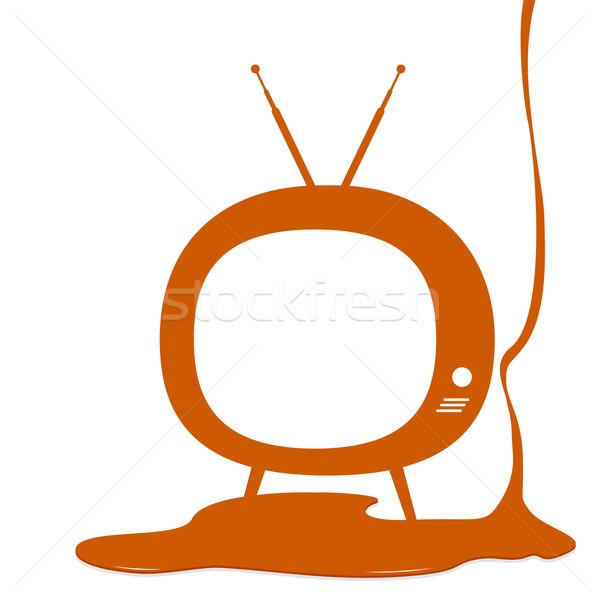 Televizyon dizayn teknoloji ekran Retro renk Stok fotoğraf © myimagine