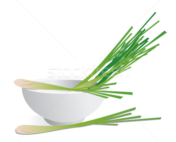 Limon çim bitki yemek doğal vektör Stok fotoğraf © myimagine