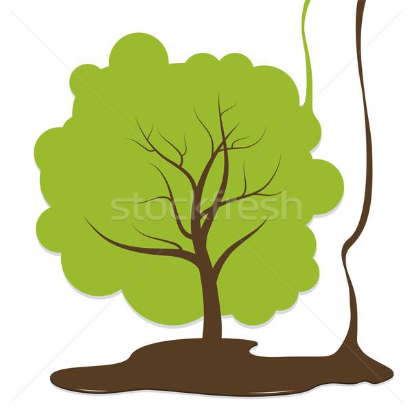Ağaç dizayn doğa yeşil fikir stil Stok fotoğraf © myimagine