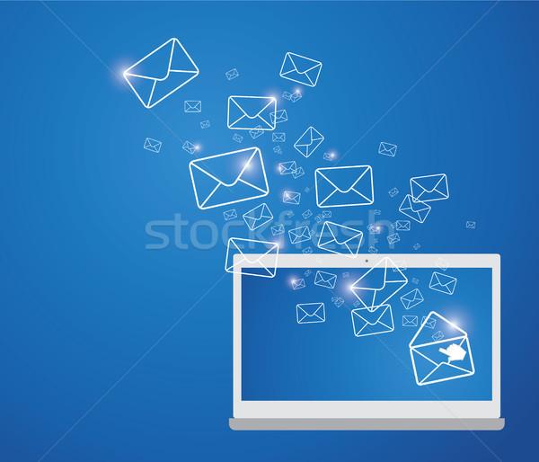 E-mail Internet dizayn iletişim posta kutusu Stok fotoğraf © myimagine