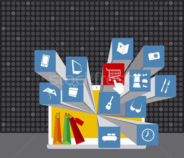 Alışveriş online alışveriş çevrimiçi kitap Internet dizayn Stok fotoğraf © myimagine
