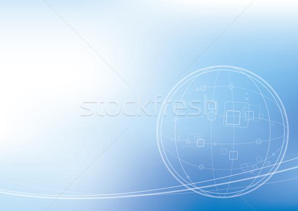 Teknoloji dünya soyut dünya arka plan ağ Stok fotoğraf © myimagine