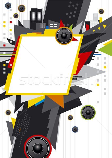 Müzik şehir dizayn arka plan imzalamak yaratıcı Stok fotoğraf © myimagine