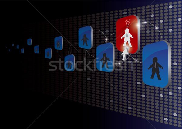 Iş kavramlar seçmek işçi Internet mavi Stok fotoğraf © myimagine