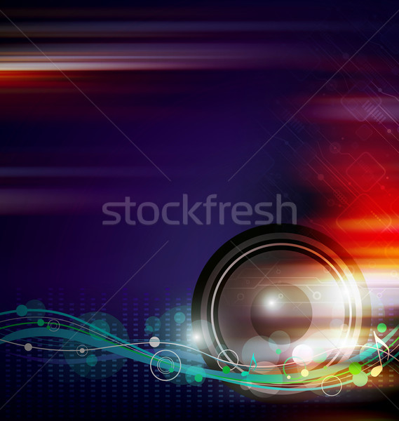 Stock photo: Music background design