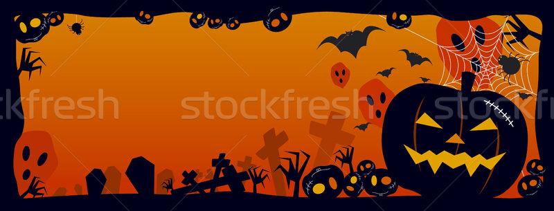Halloween parti siyah kutlama bat vektör Stok fotoğraf © myimagine