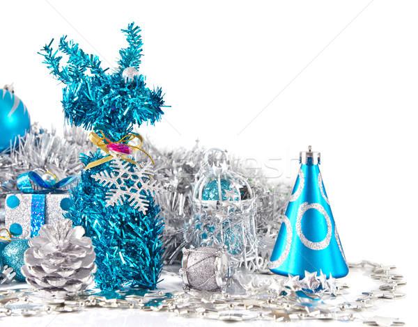 Noel dekorasyon parti top geyik kutlama Stok fotoğraf © myimagine