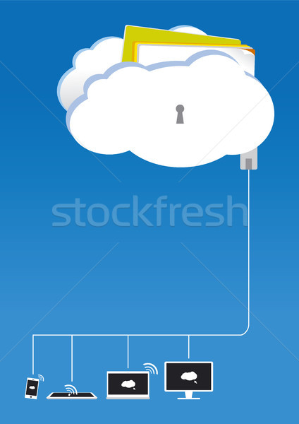 Dizayn Internet dizüstü bilgisayar güvenlik imzalamak Stok fotoğraf © myimagine