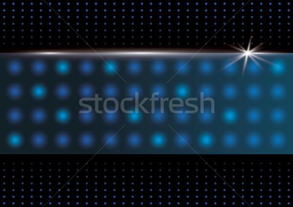 Soyut dizayn ışık teknoloji mavi siyah Stok fotoğraf © myimagine