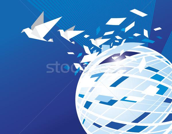 özgürlük kavramlar dünya ışık dünya imzalamak Stok fotoğraf © myimagine
