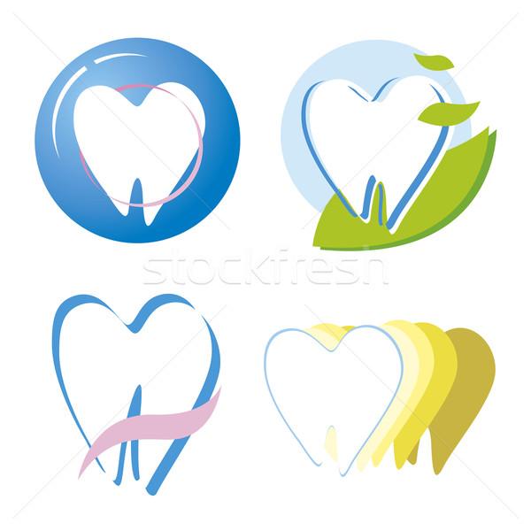 Diş dizayn doğa hastane imzalamak dişçi Stok fotoğraf © myimagine