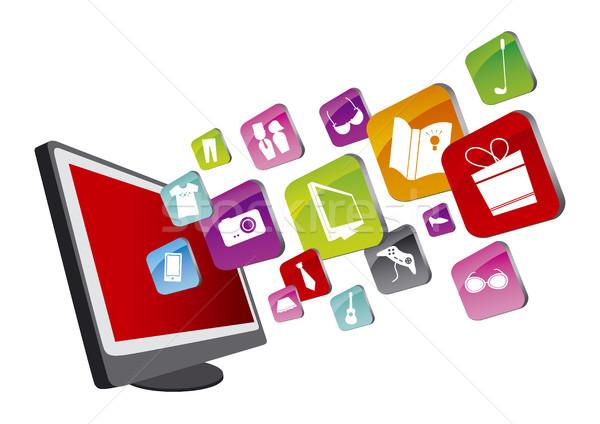 Alışveriş online alışveriş çevrimiçi iş Internet dizayn Stok fotoğraf © myimagine