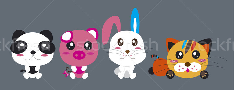 Cartoon animals Stock photo © myimagine