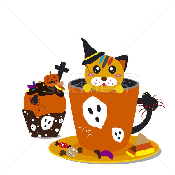Halloween cupcake and cofee design Stock photo © myimagine