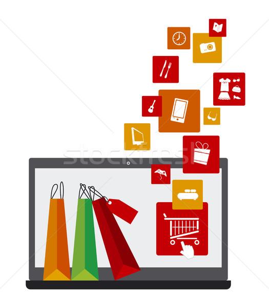 Alışveriş online alışveriş çevrimiçi iş moda spor Stok fotoğraf © myimagine
