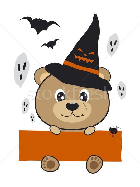Halloween ayı dizayn hayalet Stok fotoğraf © myimagine