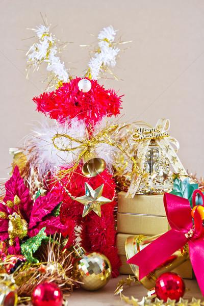 Noel dekorasyon arka plan geyik şerit kutlama Stok fotoğraf © myimagine