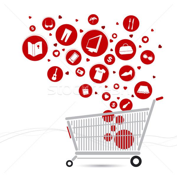 Alışveriş sepeti dizayn bilgisayar kitap sevmek moda Stok fotoğraf © myimagine