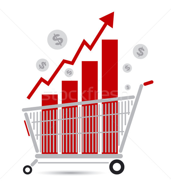 Alışveriş sepeti iş dizayn alışveriş imzalamak finanse Stok fotoğraf © myimagine