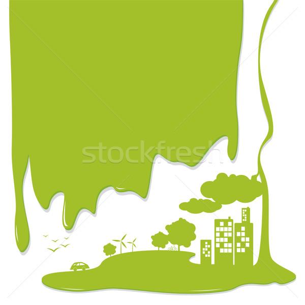 Ekoloji kavramlar gökyüzü ağaç dizayn toprak Stok fotoğraf © myimagine