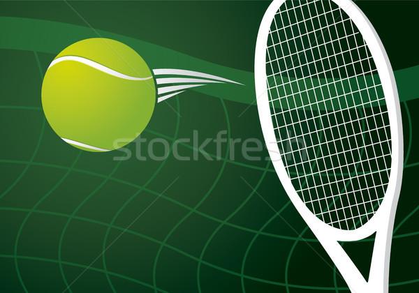 Tenis dizayn eğlence top beyaz oyun Stok fotoğraf © myimagine