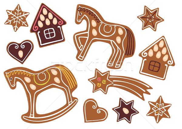 Gingerbread cookies Stock photo © MyosotisRock